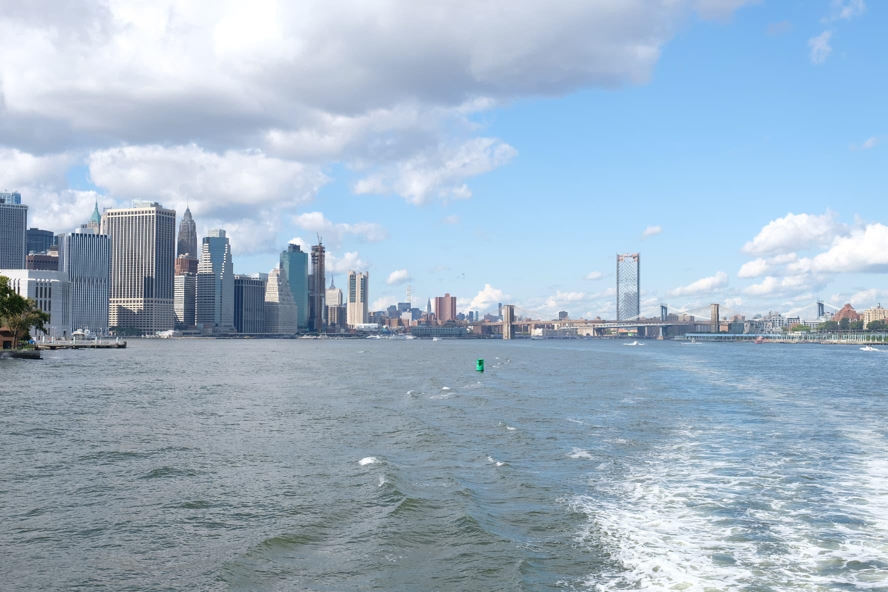 ferry NYC island water New York city